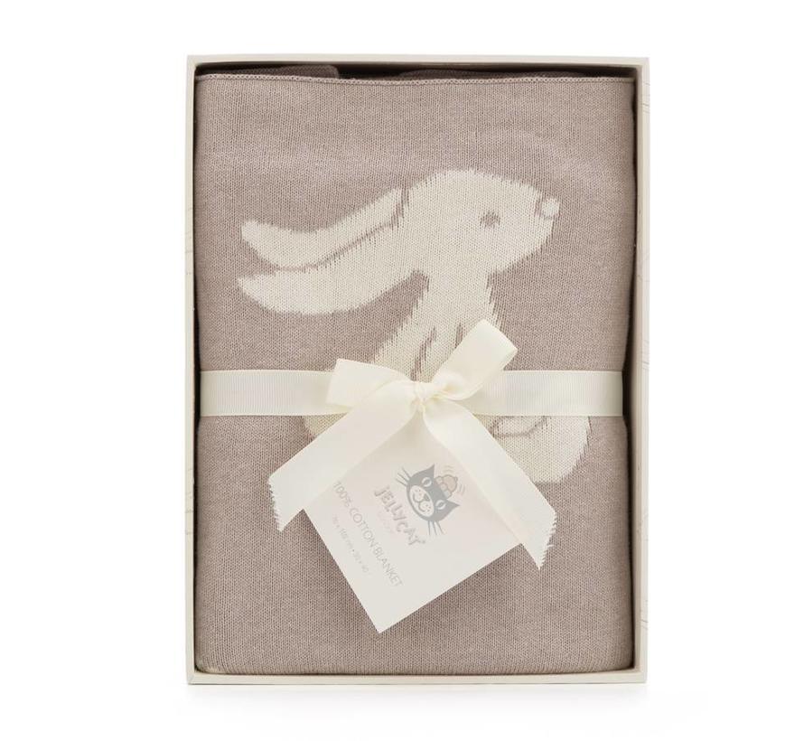 Deken Beige Bashful Bunny Blanket