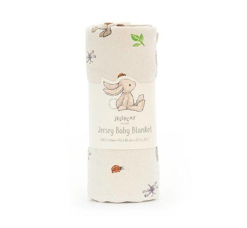 Jellycat Deken Konijn Bashful Bunny Jersey Blanket
