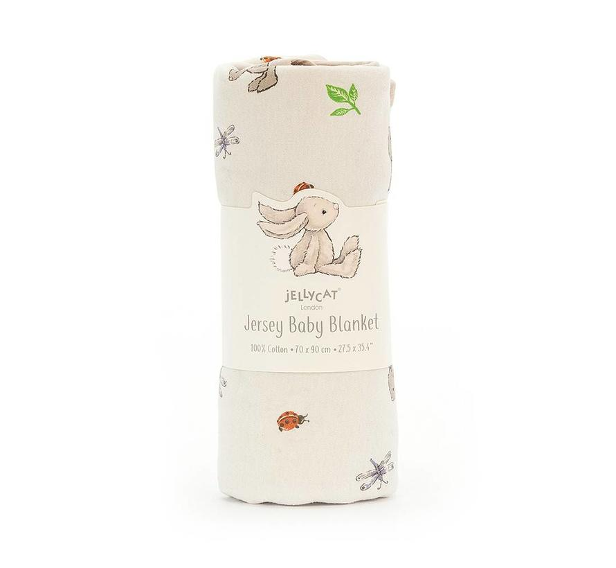 Deken Konijn Bashful Bunny Jersey Blanket