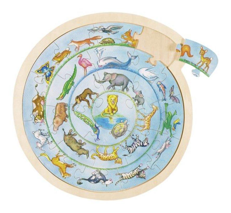 Puzzel Dierencirkel
