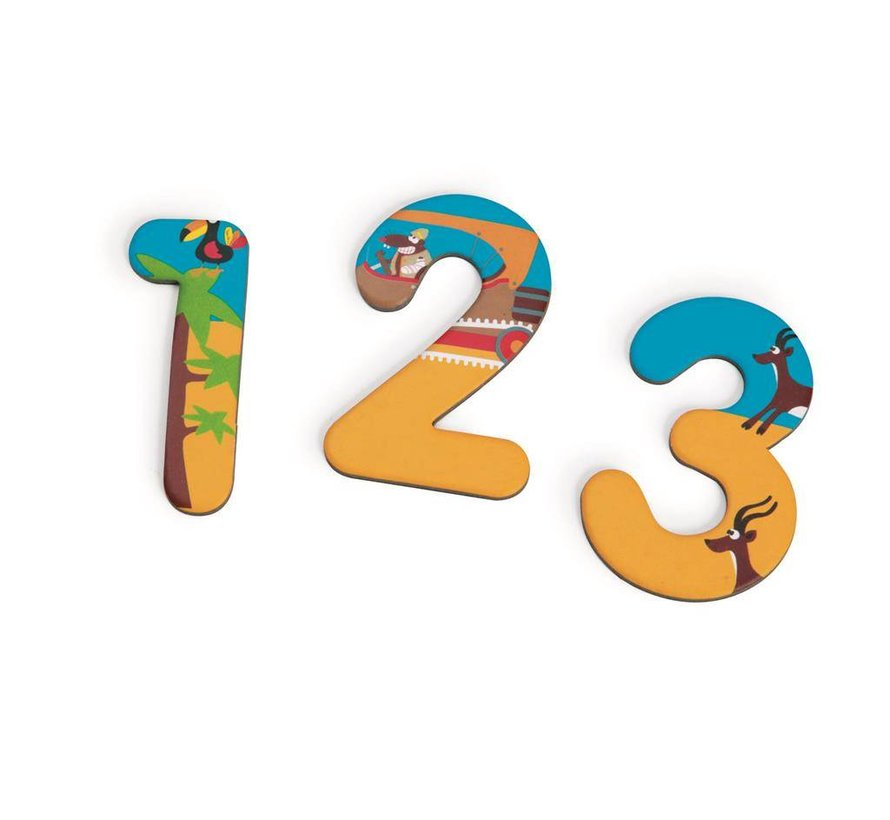 Cijfers Magnetisch 123 Safari