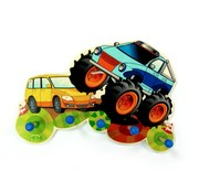 Hess Kapstok Kinderkapstok Monstertruck Hout