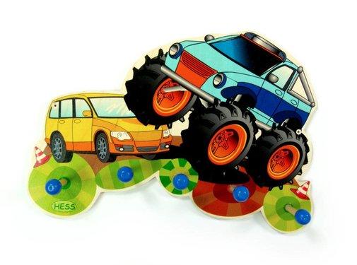 Hess Kapstok Kinderkapstok Monstertruck Hout