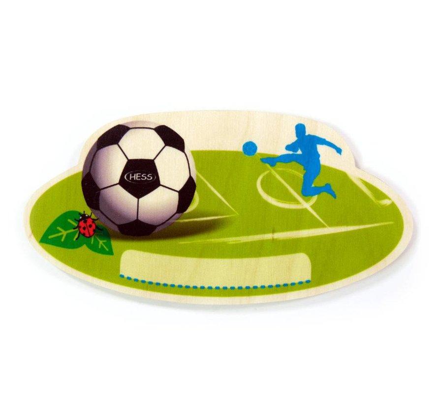 Naambord Kinderkamer Voetbal Hout
