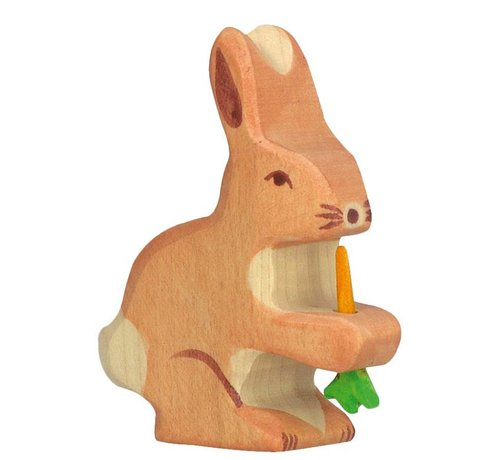 Holztiger Hare with Carrot 80102