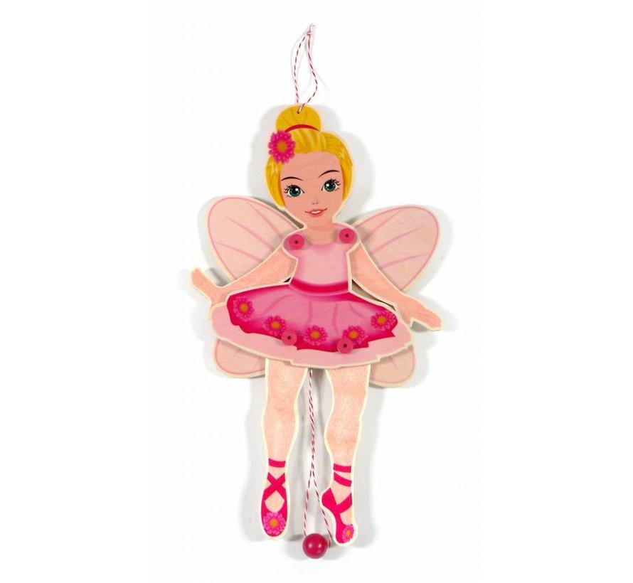 Trekpop Ballerina Hout