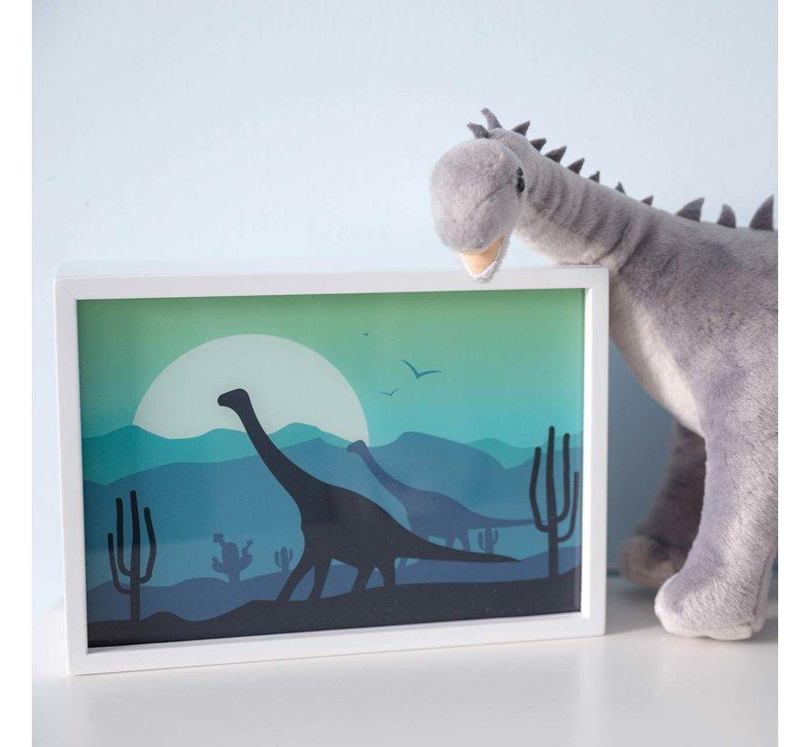 Wandlamp Rechthoekig Dino Wit Hout