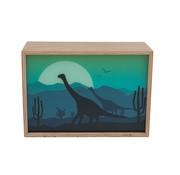 Limundo Wandlamp Rechthoekig Dino Beuken Hout