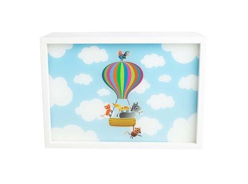 Limundo Wandlamp Rechthoekig Luchtballon Wit Hout