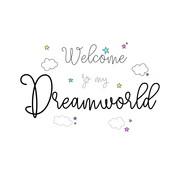 Limundo Motief Dreamworld Wandlamp Rechthoekig