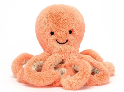 Jellycat Knuffel Baby Peachie Octopus