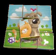 Weizenkorn Blokkenpuzzel Boerderijdieren Hout