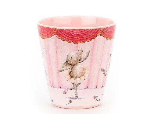 Jellycat Beker Olifant Elly Ballerina Melamine