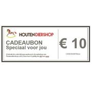 Houtendiershop Cadeaubon 10 Euro