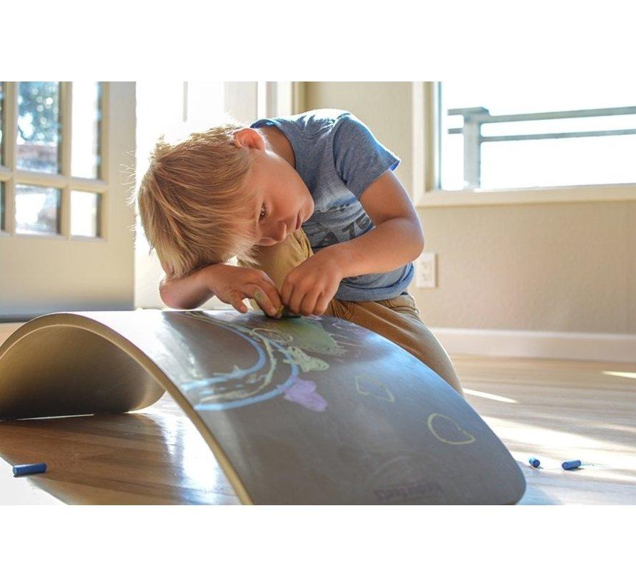 Kinderboard Balance Board Grijs Krijtbord