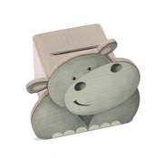 Weizenkorn Spaarpot Gezicht Nijlpaard Hout