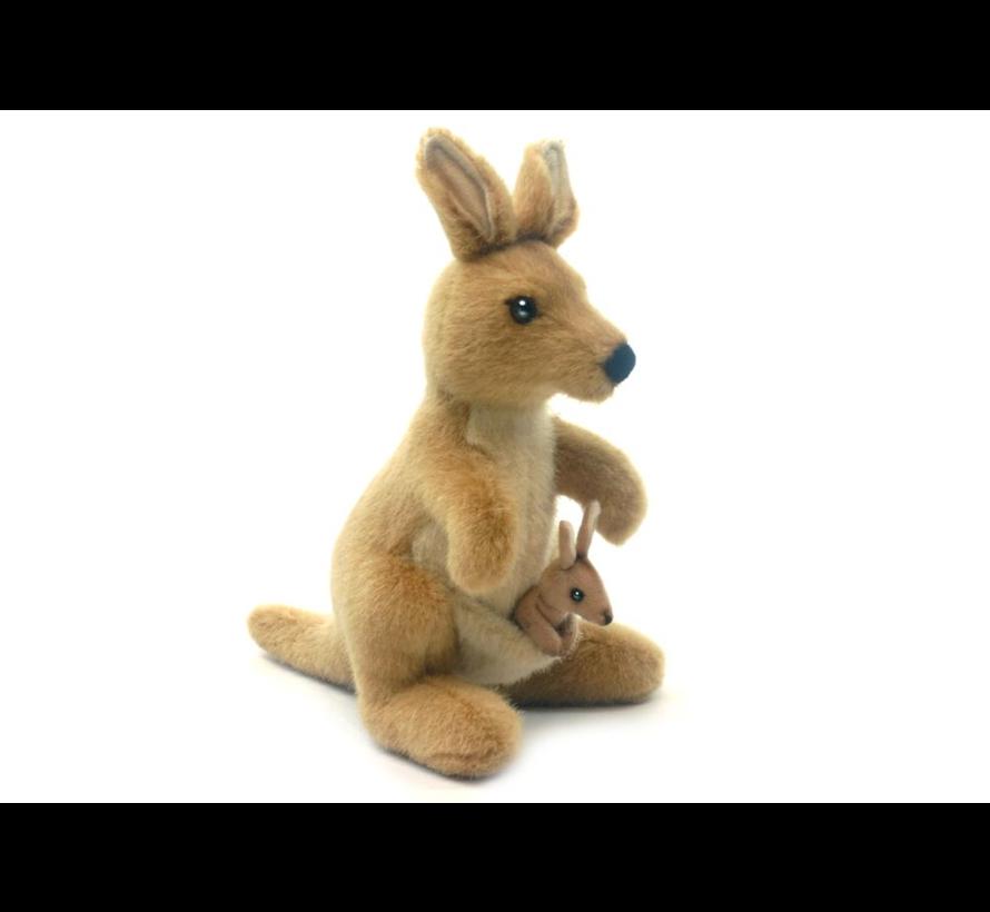 Knuffel Pluche Kangoeroe met Baby