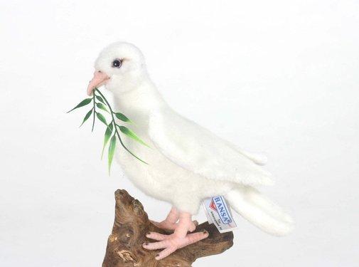 Hansa Knuffel Pluche Witte Duif