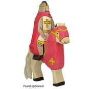 Holztiger Knight Red Coat Sitting on Horse 80246