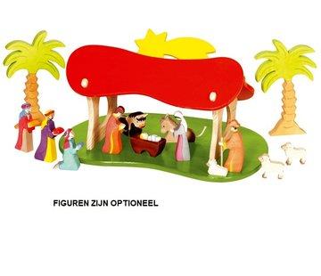 Holztiger KerstStal Schuur 80312