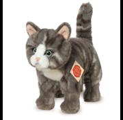 Hermann Teddy Stuffed Animal Cat Grey Standing