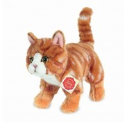 Hermann Teddy Stuffed Animal Cat Red Standing