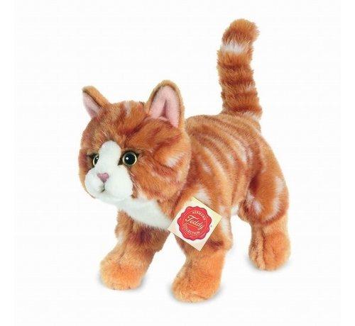 Hermann Teddy Stuffed Animal Cat Red Standing