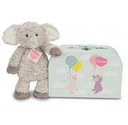Hermann Teddy Stuffed Animal Elephant Smartie with Suitcase