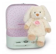Hermann Teddy Stuffed Animal Rabbit in Suitcase