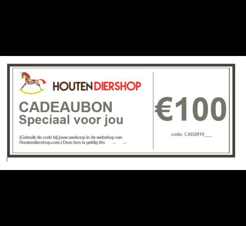 Houtendiershop Cadeaubon 100 Euro