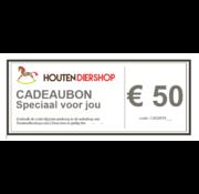 Houtendiershop Cadeaubon 50 Euro