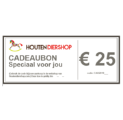 Houtendiershop Gift Voucher 25 Euro