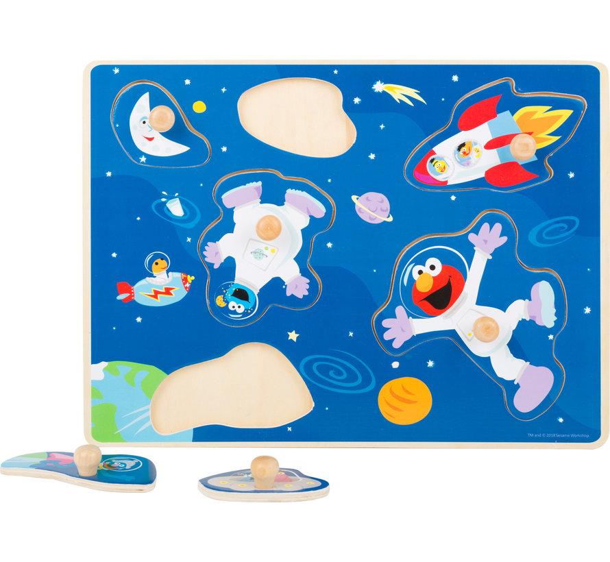 Puzzel Sesamstraat Ruimtevaart Hout