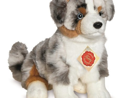 Hermann Teddy Cuddly Animal Dog Australian Shepherd Pup