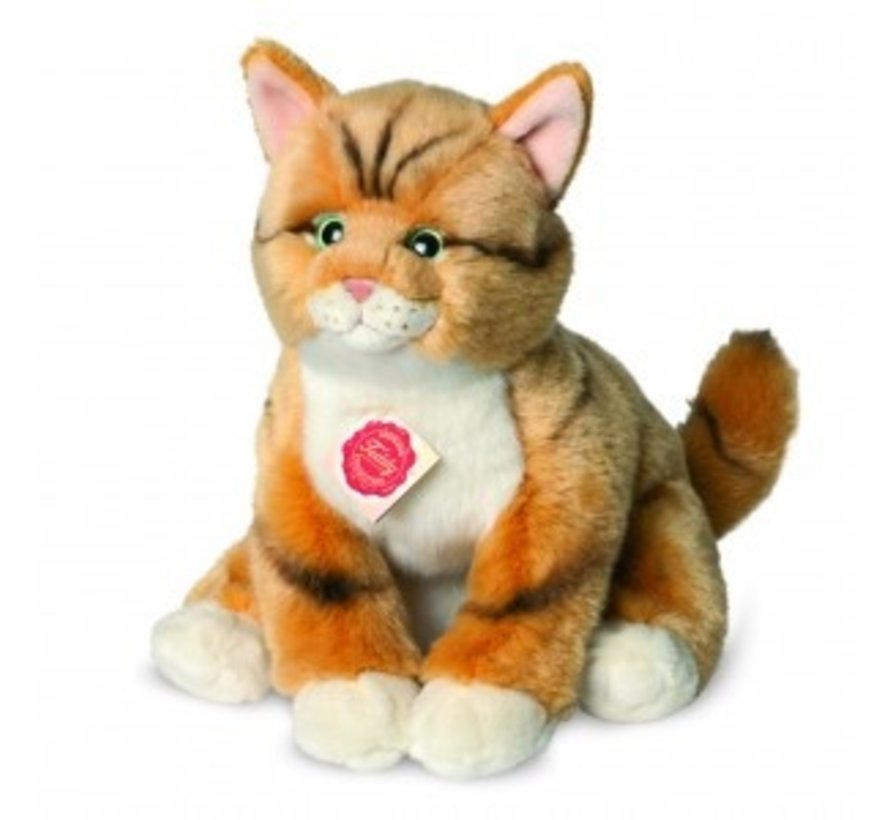 Knuffel Kat Rood Getijgerd