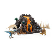 Schleich Giant Volcano with T-Rex 42305