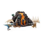 Schleich Reuze Vulkaan Met T-Rex 42305