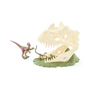 Schleich Large skull trap with Velociraptor 42348