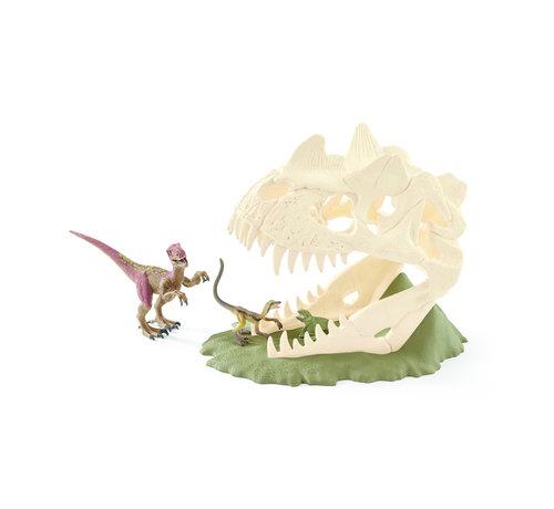 Schleich Grote Schedelvalstrik Met Velociraptor 42348