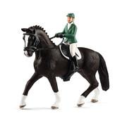Schleich Springruiter Amazone met Paard 42358
