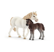 Schleich Pony mare and foal 42423