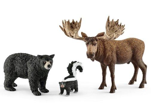 Schleich Noord-Amerikaanse Bosdieren  Set 3-delig 41456