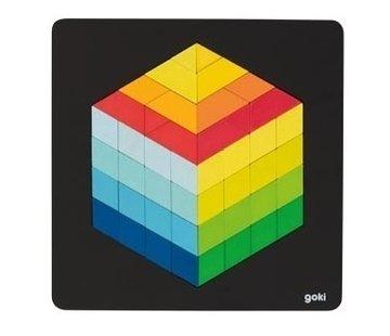 GOKI Puzzel 3D Optisch Figuur Hout