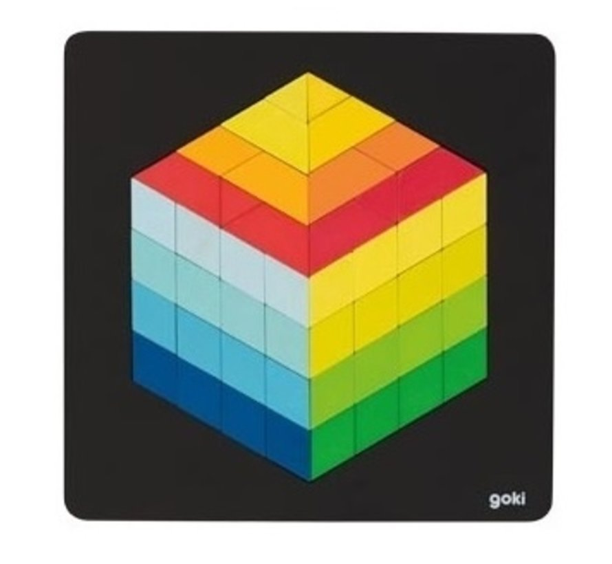Puzzel 3D Optisch Figuur Hout