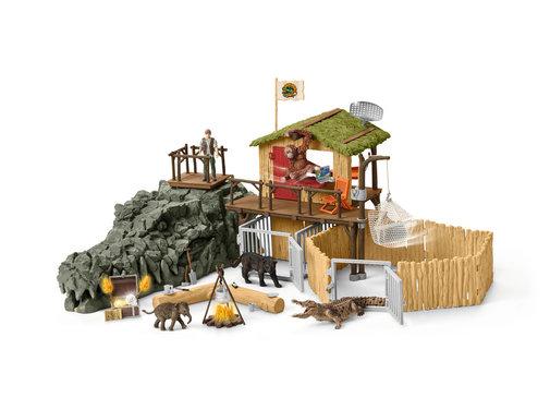 Schleich Speelset Croco Jungle Onderzoeksbasiskamp 42350