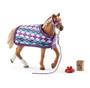 Schleich Paard Engelse Volbloed met Deken 42360