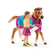 Schleich Paard Veulen Met Deken 42361