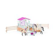 Schleich Paardenbox Met Paarden En Verzorgster 42369