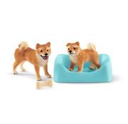 Schleich Shiba Inu mother and puppy 42479
