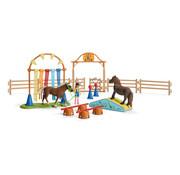 Schleich Speelset Paard Pony Behendigheidstraining 42481